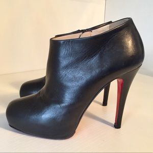 Christian Louboutin  leather platform ankle boots